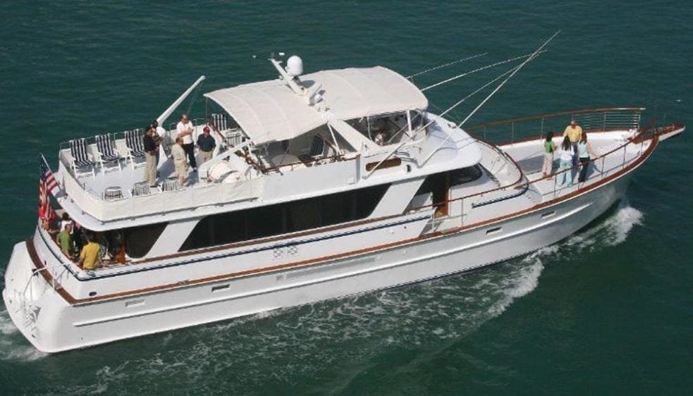 Miami Private party yacht rental 80' Chris Craft Starboard