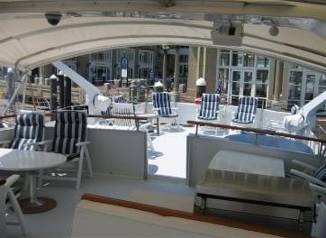 Miami Private party yacht rental 80' Chris Craft Upperdeck