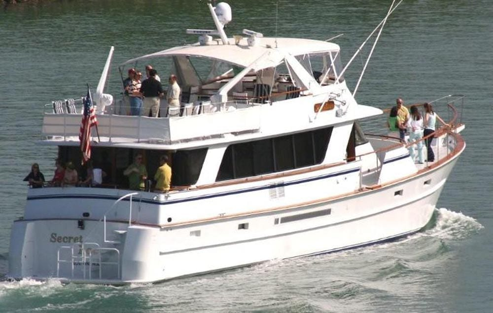 Miami Private party yacht rental 80' Chris Craft