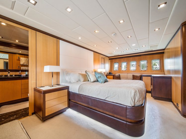 Miami Super yacht charter bedroom