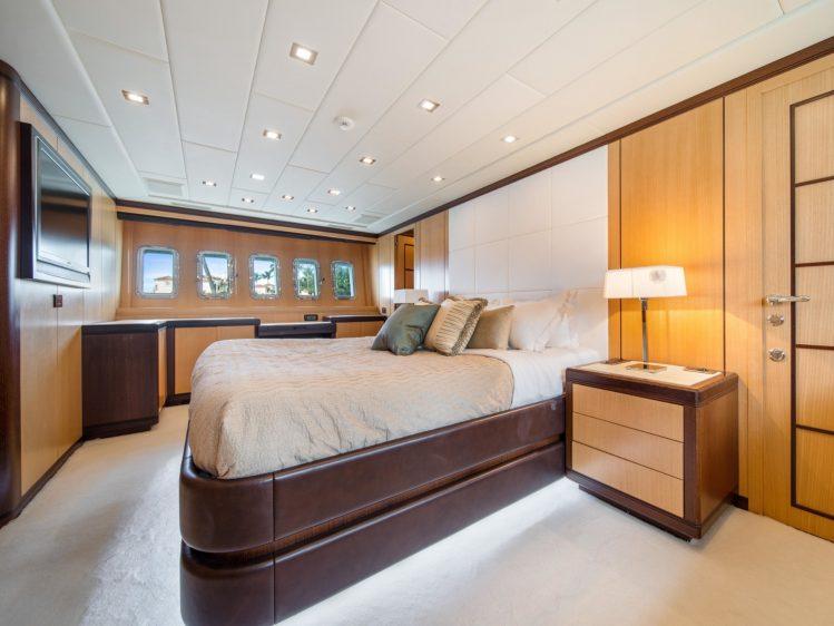 Miami Super yacht charter stateroom