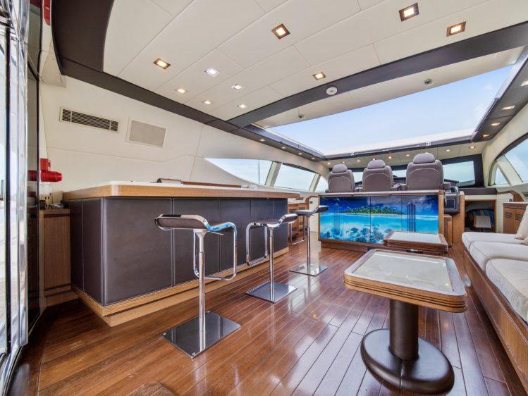 Miami Super yacht rental bar area