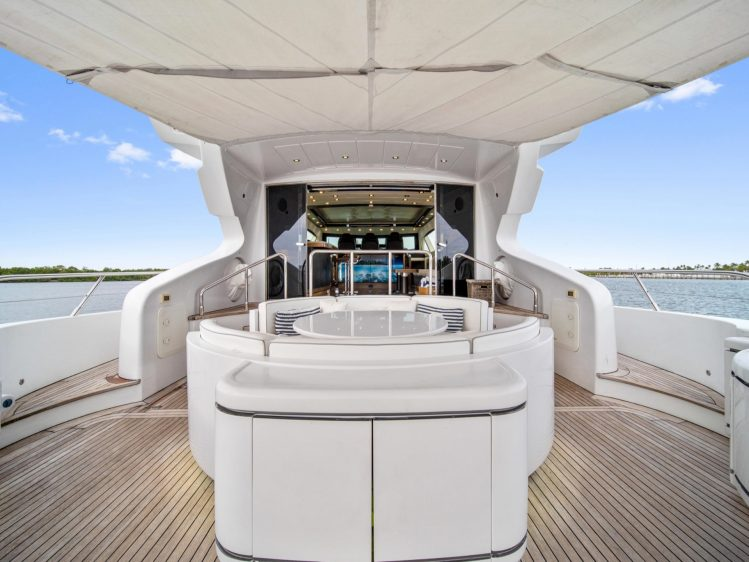 Miami Super yacht rental deck