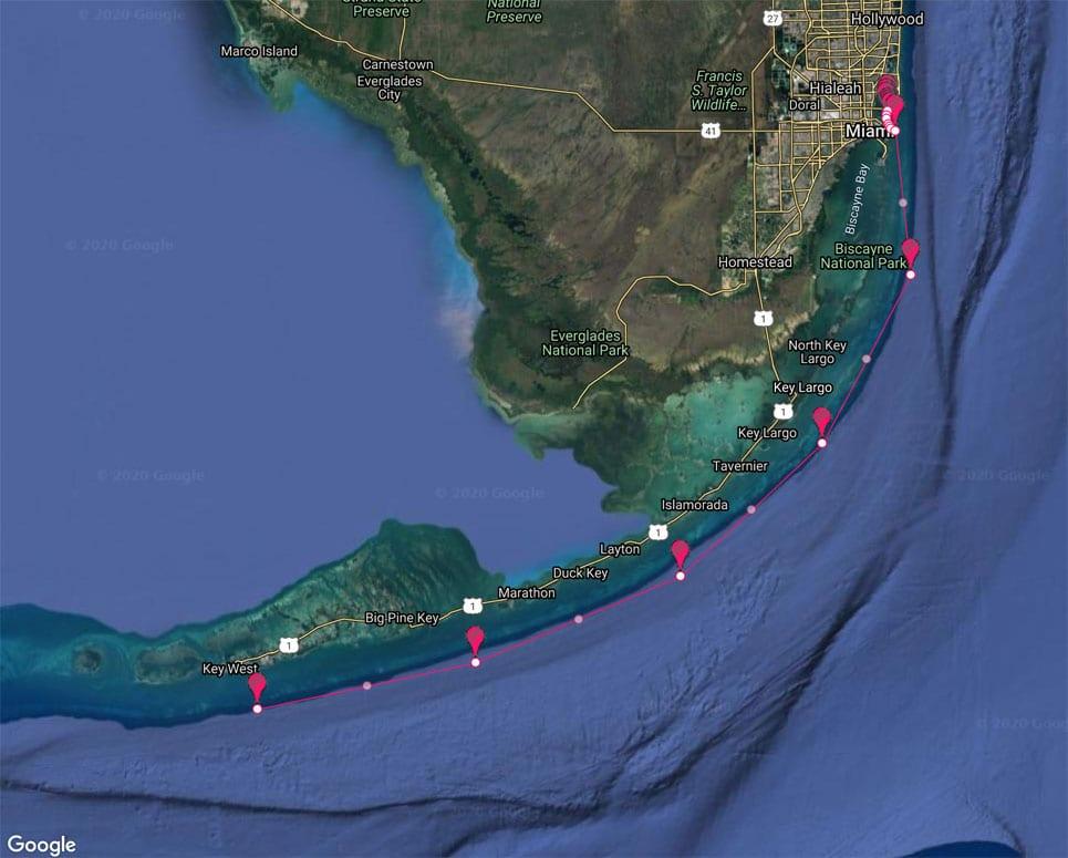 Miami-Yacht-Charter-to-Key-West