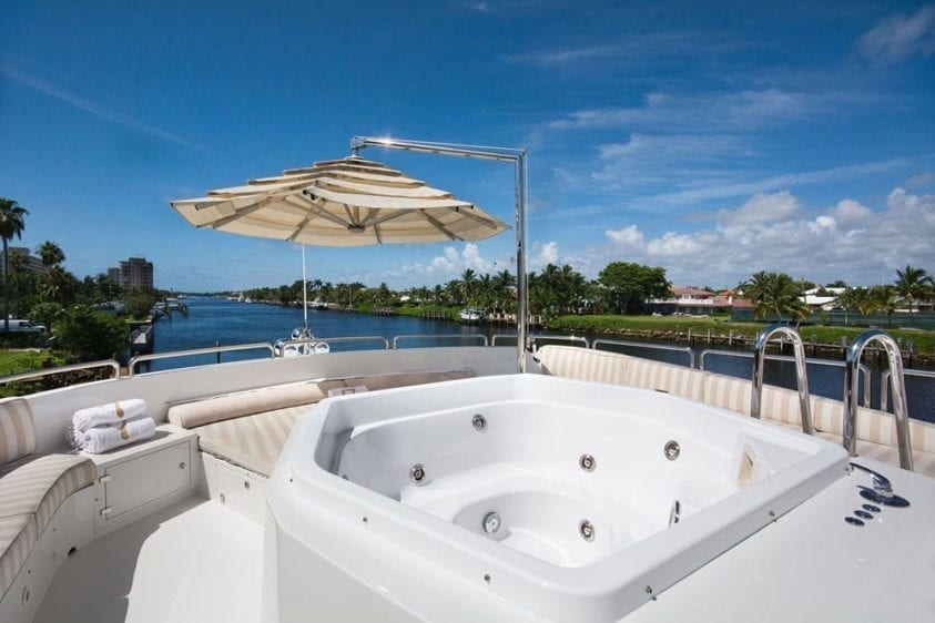 Miami Yacht Rental 116' Benetti Hot Tub