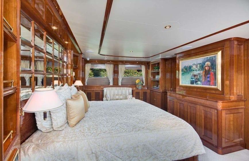 Miami Yacht Rental 116' Benetti Master Cabin