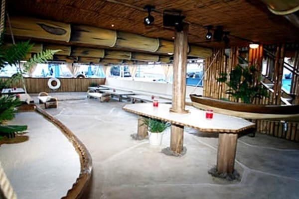 Miami Yacht Rentals 100' Party Boat Inside Tables