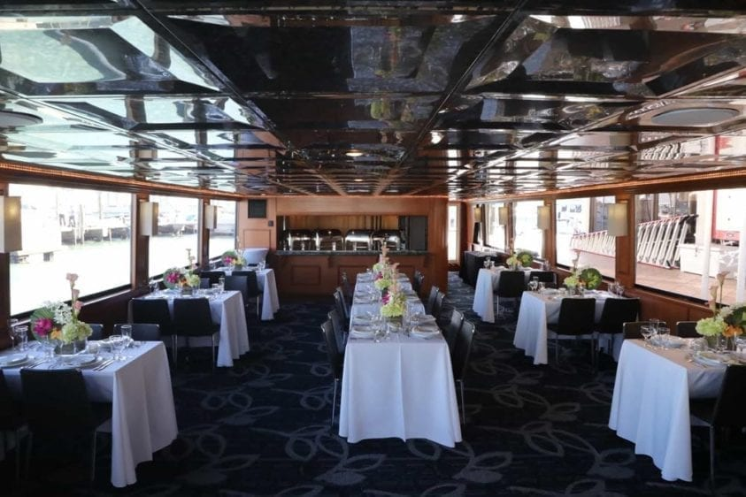 Miami Yacht Rentals 100' Skipperliner Dining Tables