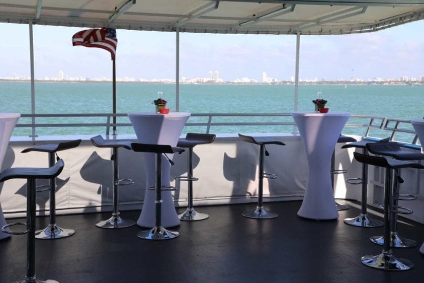 Miami Yacht Rentals 100' Skipperliner Outdoor Seating 2