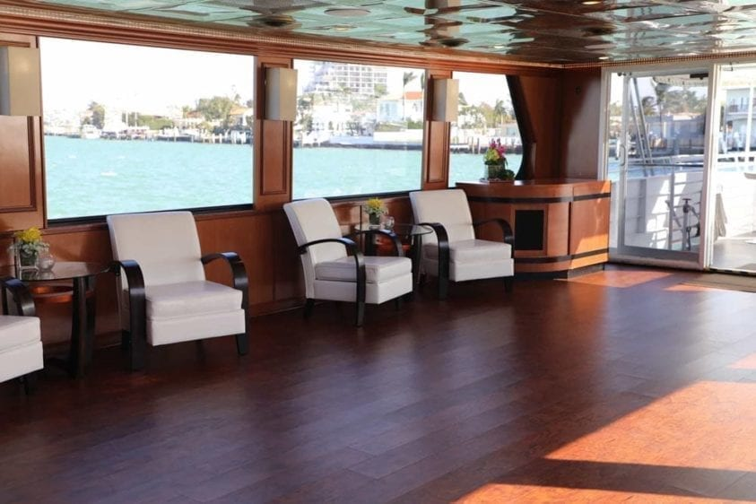 Miami Yacht Rentals 100' Skipperliner Salon Seating