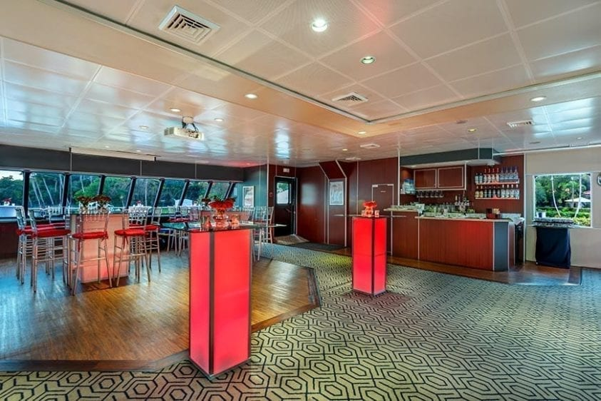 Miami Yacht Rentals 111' Austal Bar Salon
