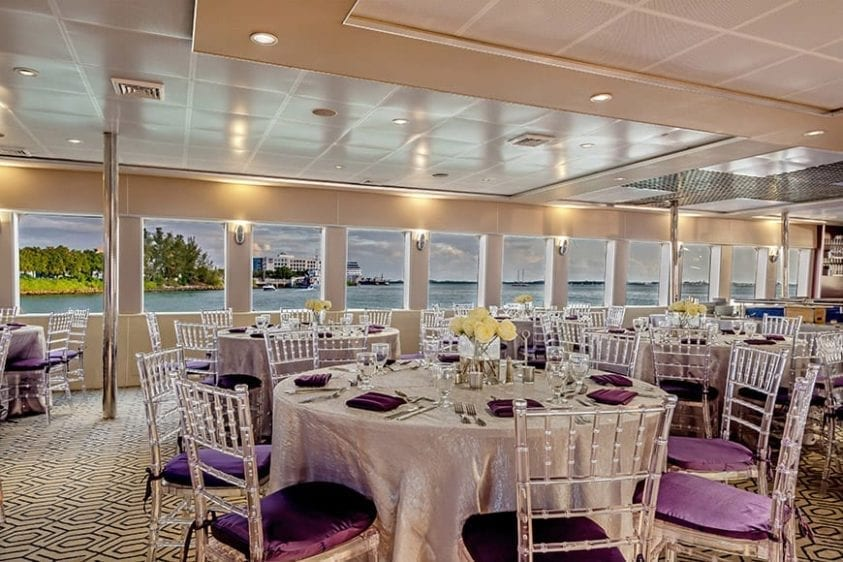 Miami Yacht Rentals 111' Austal Tables