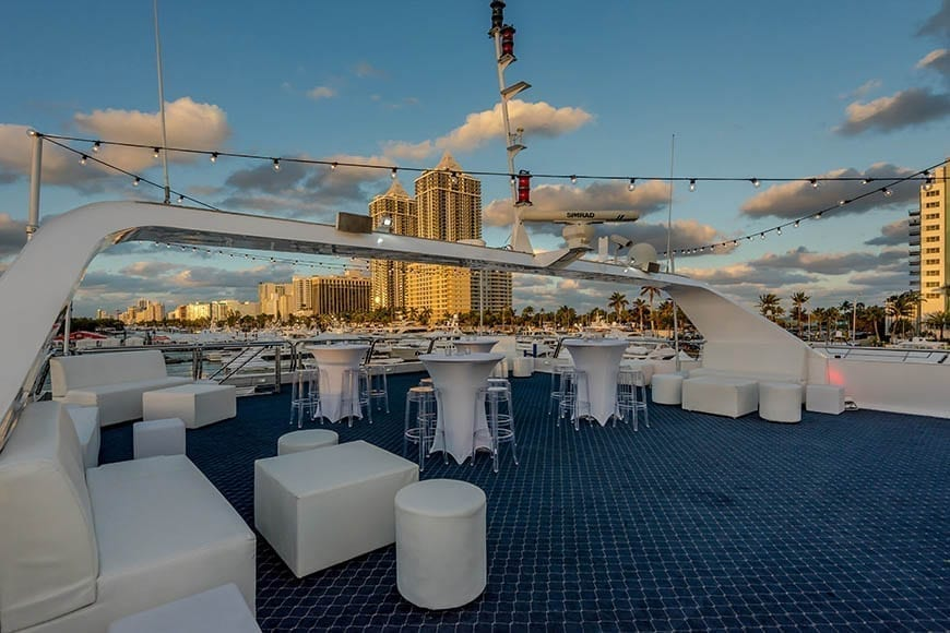 Miami party Yacht Rental 111' Austal Upper Deck