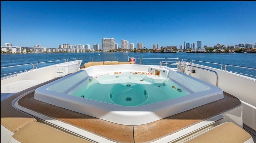 Miami superYacht charter 116' Azimut Upper Deck Hot Tub