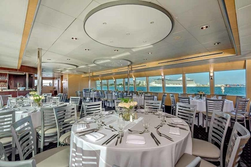 Miami Yacht Rentals 130' Austral Marine Dining Tables