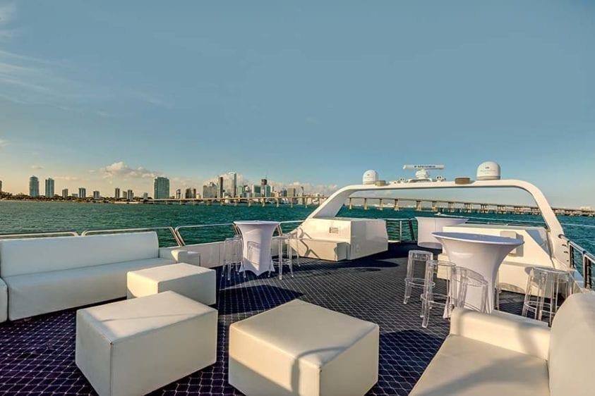 Miami Yacht Rentals 130' Austral Marine Upper Deck 2