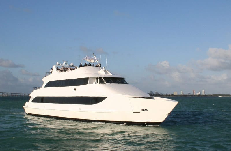 Miami party Yacht charter 130' Austral Marine
