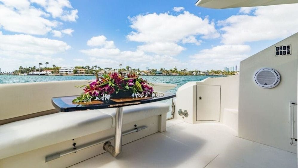 Miami Yacht Rentals 43' Marquis Aft Seating