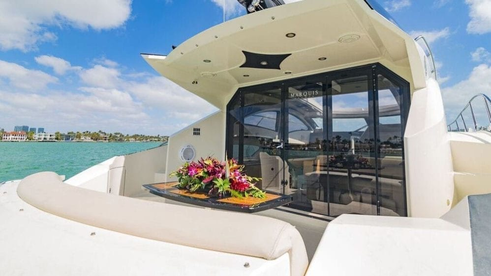 Miami Yacht Rentals 43' Marquis Aft Section