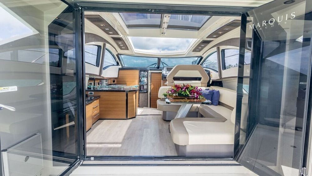 Miami Yacht Rental 43' Marquis Interior