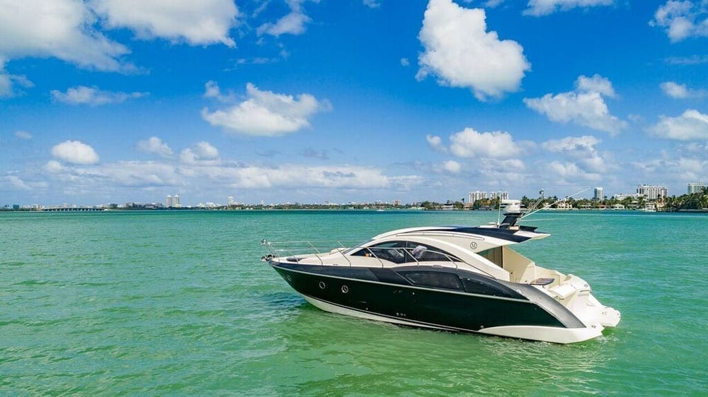 Miami Yacht Rentals 43' Marquis Port Side