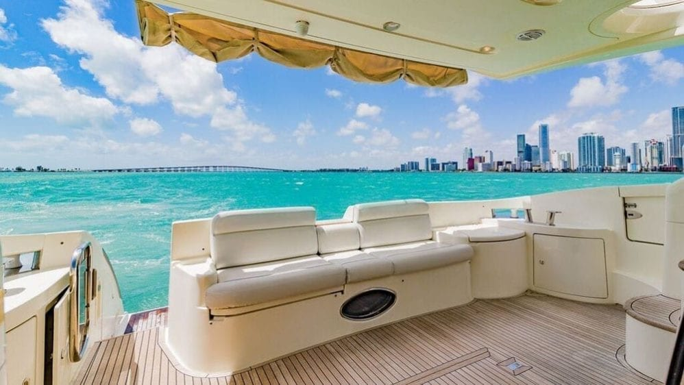 Miami Yacht Rentals 55' Azimut Aft Seating