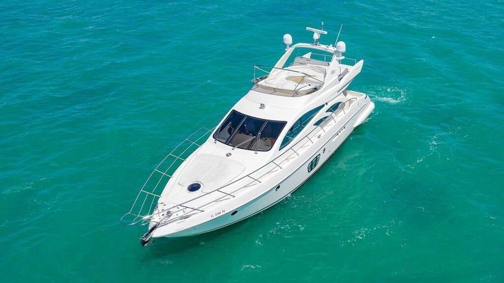 Miami Yacht Rentals 55' Azimut Air Shot
