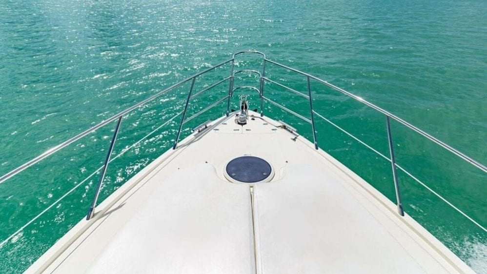 Miami Yacht Rentals 55' Azimut Bow Pads