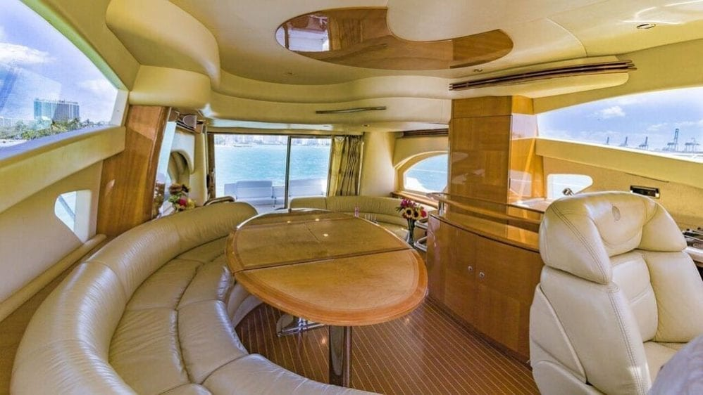 Miami Yacht Rentals 55' Azimut Dining