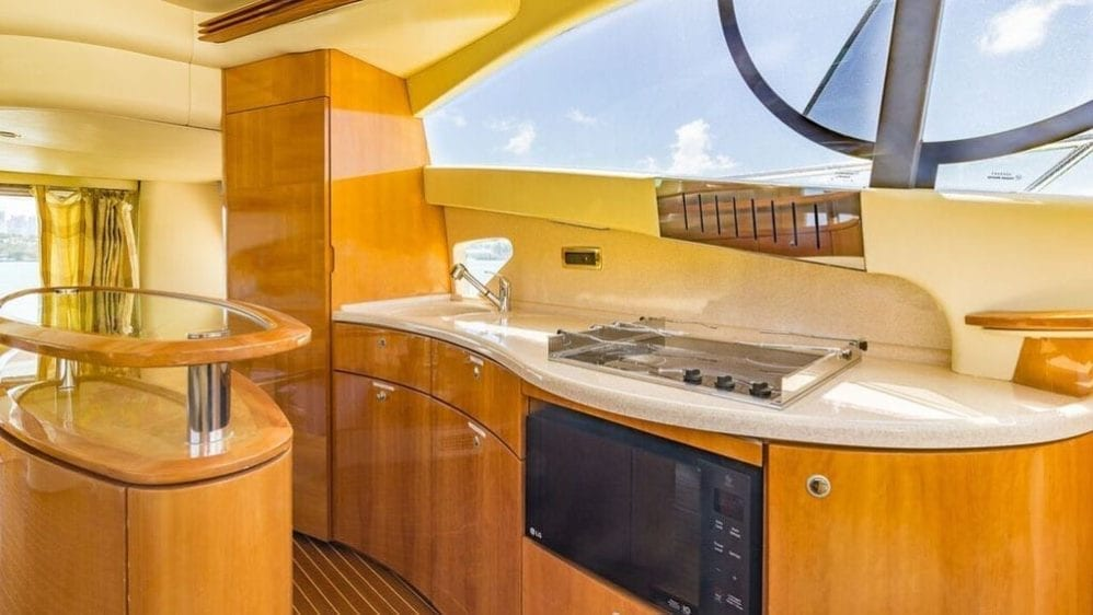 Miami Yacht Rentals 55' Azimut Galley