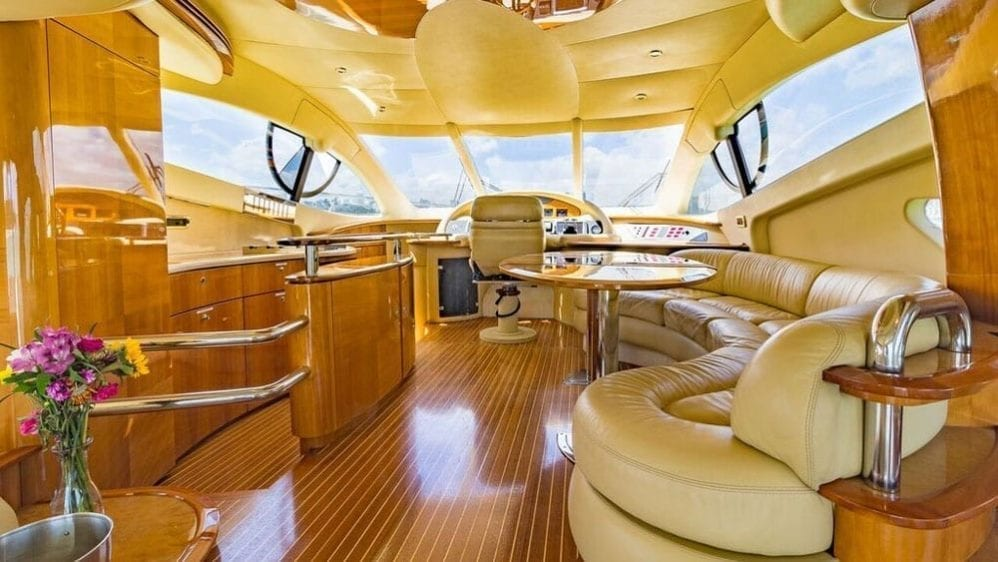 Miami Yacht Rentals 55' Azimut Salon Forward Section