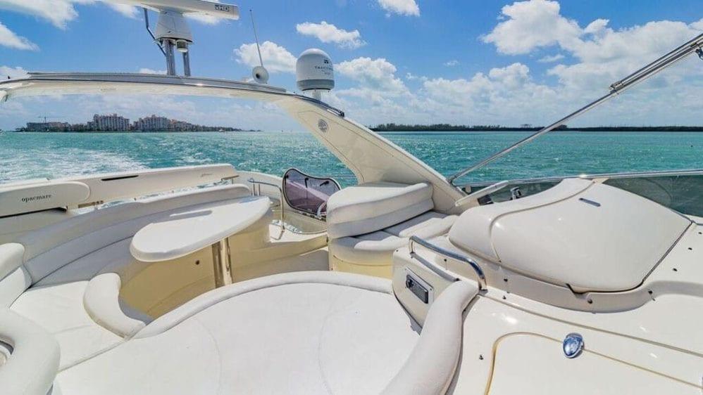 Miami Yacht Rentals 55' Azimut Upper Deck