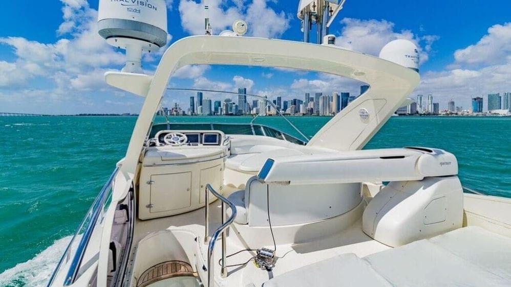 Miami Yacht Rentals 55' Azimut Upper Deck Aft