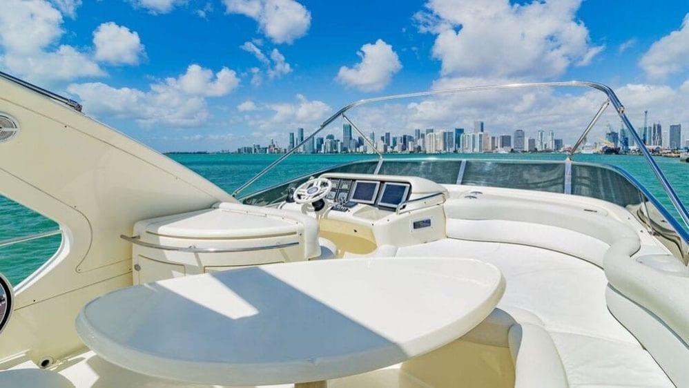 Miami Yacht Rentals 55' Azimut Upper Deck Helm