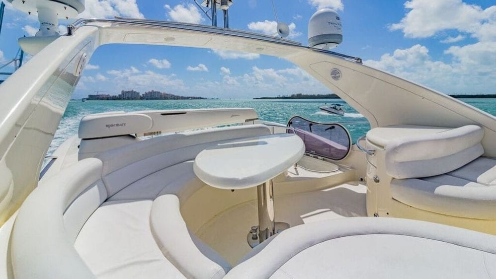 Miami Yacht Rentals 55' Azimut Upper Deck Seating