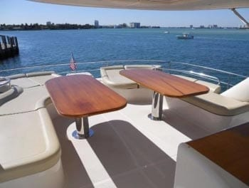 Miami Yacht Rentals 62' Rodriguez Aft Seating