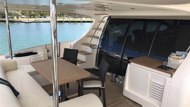 Miami Yacht Rentals 70' Azimut Aft Seating 2