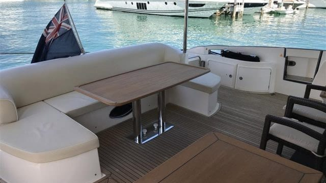 Miami Yacht Rentals 70' Azimut Aft Seating