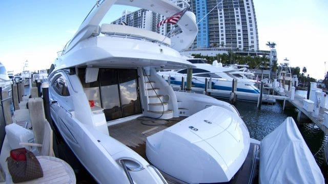 Miami Yacht Rentals 72' Sunseeker Stern