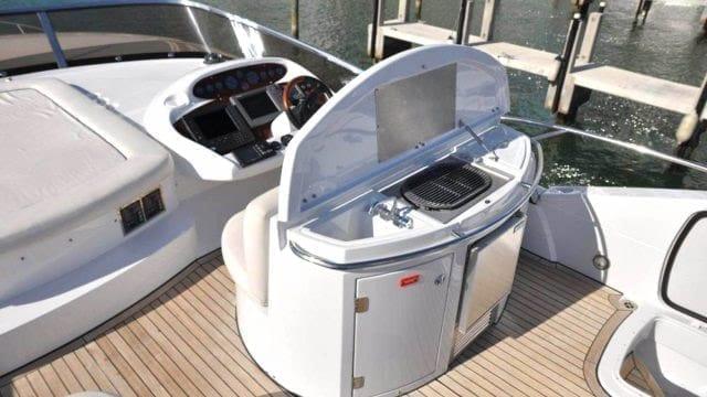Miami Yacht Rentals 72' Sunseeker Upper Deck Grill
