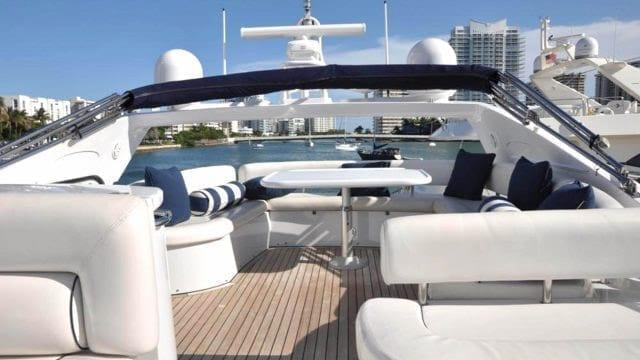 Miami Yacht Rentals 72' Sunseeker Upper Deck