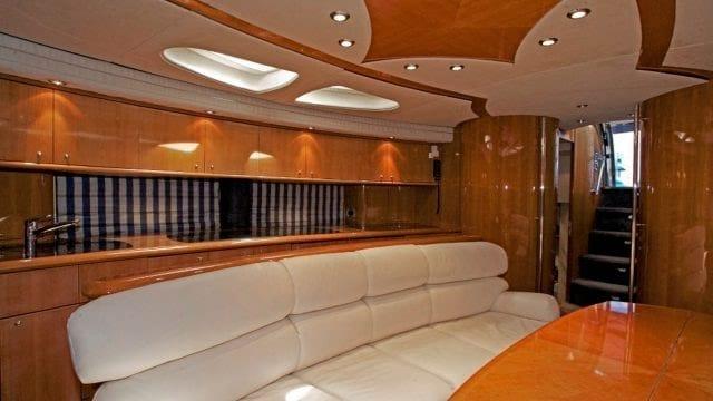 Miami Yacht Rentals 75' Predator Dining