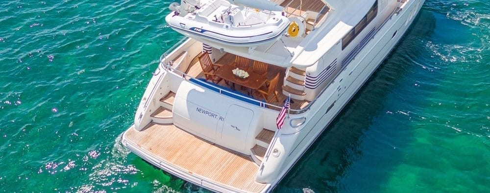 Miami Yacht Rentals 75' Viking Princess Stern