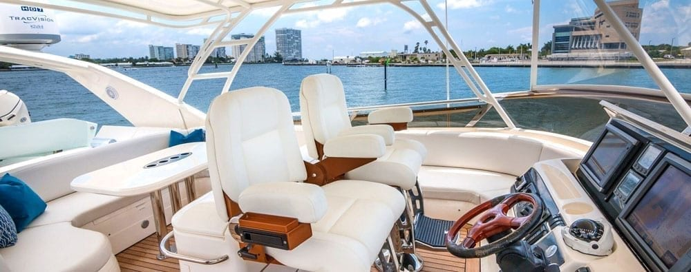 Miami Yacht Rentals 75' Viking Princess Upper Helm