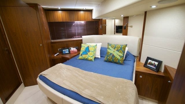 Miami Yacht Rentals 76' Sunseeker Guest Stateroom