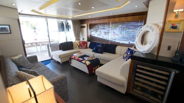 Miami Yacht Rentals 76' Sunseeker Salon 2
