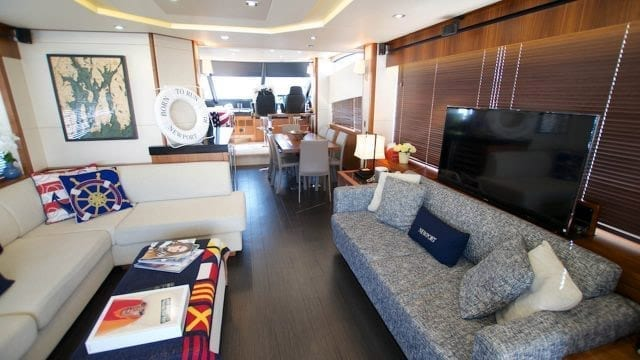 Miami Yacht Rentals 76' Sunseeker Salon