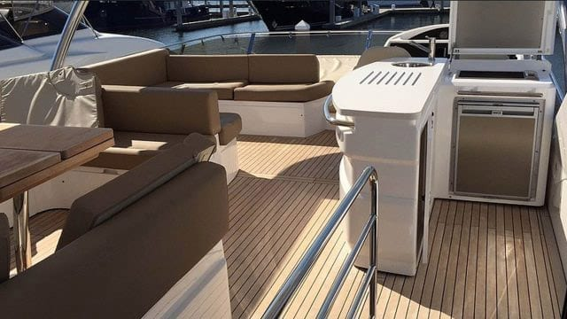 Miami Yacht Rentals 76' Sunseeker Upper Deck