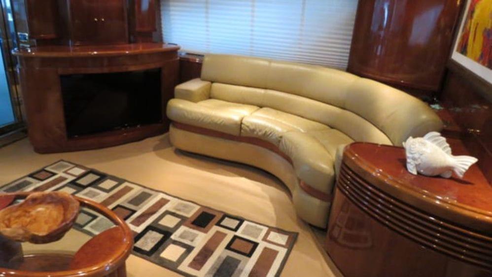 Miami Yacht Rentals 80' Azimut Salon Couch