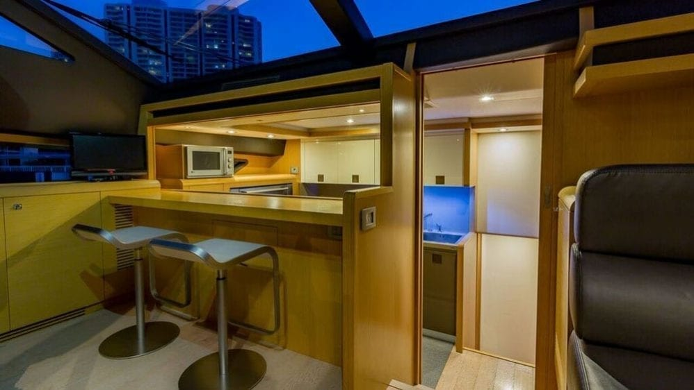 Miami Yacht Rentals 80' Ferretti Breakfast Bar